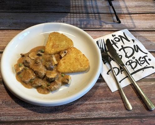 Schweinefilet deluxe mit Kartoffelröstis Rezept Foto Bärbel Lehrke