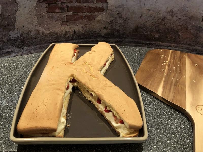 Bisquit Buchstabenkuchen