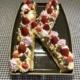 Buchstabenkuchen K gebacken in Stoneware mit Buchstabenbackform Pampered Chef