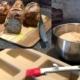 Röstzwiebelbrot fertig gebacken - Fotocollage