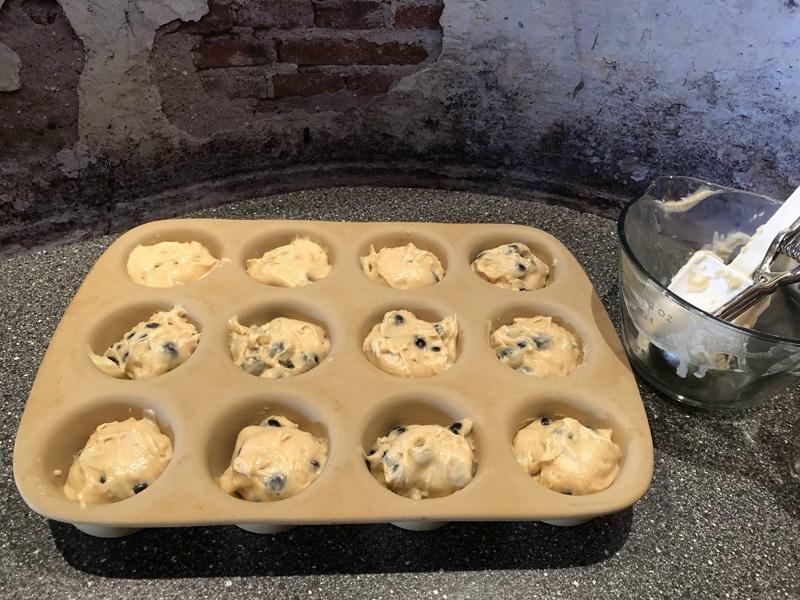 Muffins mit Heidelbeeren in Stoneware backen