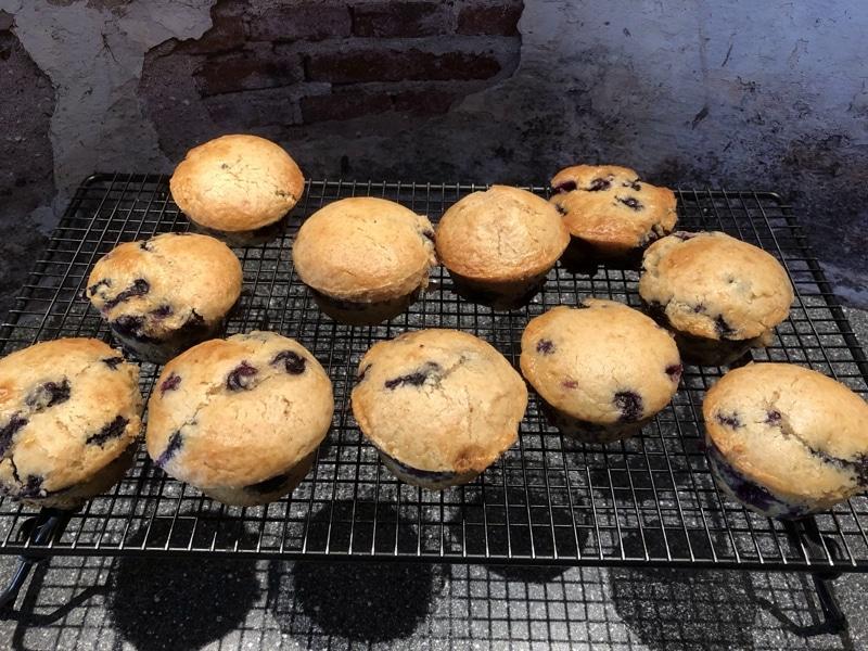 Muffins backen Rezept Bärbel Lehrke - Muffins auf Kuchengitter