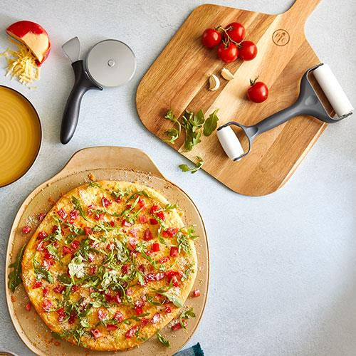 Pizza Set Pampered Chef Stoneware